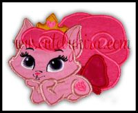 Beauty Cat Applique Embroidery Design