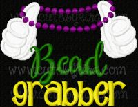 Bead Grabber Applique Embroidery Design