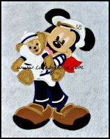 Captain Mouse and Bear Applique Embroider Design
