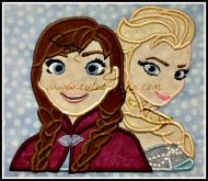 Cold Girl Duo Applique Embroidery Design
