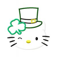 Irish Kitty Applique Design