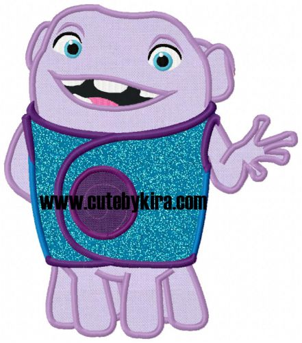 Oh Alien Applique Embroidery Design