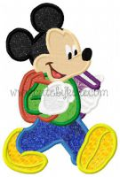 Mister Mouse School Applique Embroidery Design