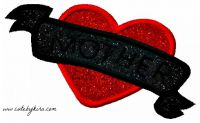 Mother Heart Tattoo Applique Embroidery Design