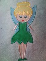 Petite Tinkergirl Applique Embroidery Design