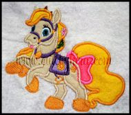 Rapunzel Pet Horse Applique Embroidery Design