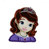 First Princess Bust Applique Embroidery Design