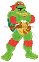 Turtle Teen Applique Embroidery Design