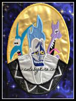 Hades Cameo Applique Embroidery Design