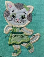 Kitty Girl Applique Embroidery Design