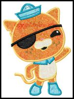 Octocat Applique Embroidery Deisgn