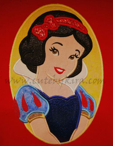Snowy Princess Modern Cameo Applique Embroidery Design